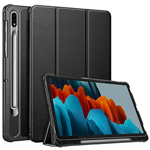 FINTIE Slimshell Case for Samsung Galaxy Tab S7 11'' 2020 SM-T870(Wi-Fi) / SM-T875(LTE) with S Pen Holder, Super Thin Lightweight Tri-Fold Stand Cover with Auto Wake/Sleep, Black