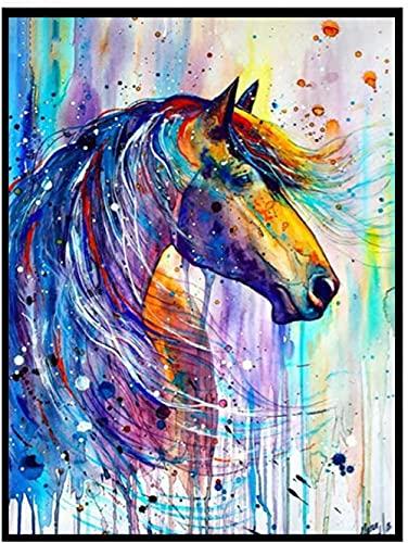 Kits de pintura de diamante de caballo hermoso Diy 5D Kit completo de arte de diamante pintura artesanal de diamante con diamantes para decoración del hogar 40x50cm