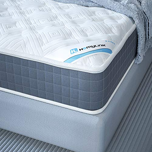 HomyLink 3FT Single Mattress Pocket Sprung Memory Foam 9-Zone Orthopaedic 23.5cm Height 3D Breathable Knitting Fabric