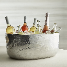 Bash Silver Beverage Tub + Reviews | Crate and Barrel
