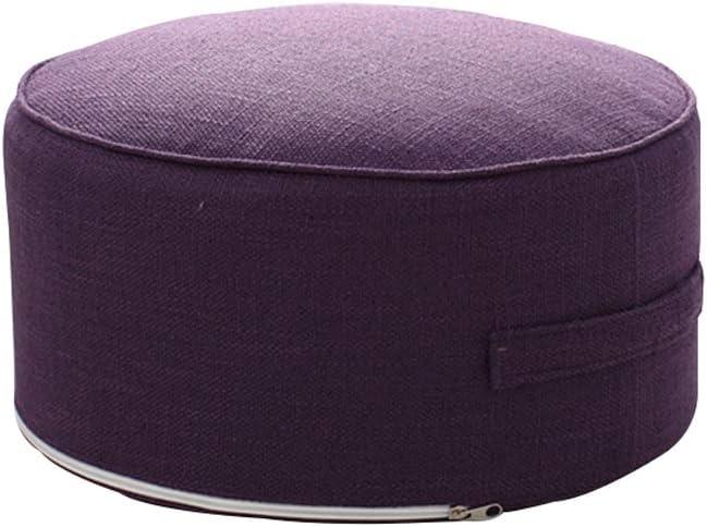 Round Pouf Raleigh Mall Foot Stools Comfortable Cushion Ottoman Cheap SALE Start Floor Mo Seat