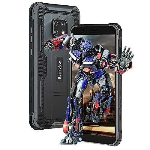 Blackview BV4900 Pro Smartphone libre (4GB de RAM, 64GB de memoria, Android 10, cámara de 13MP + 5MP, 5580 mAh, pantalla HD+ de 5,7 pulgadas, Dual SIM, NFC, OTG) resistente al agua IP68, color negro