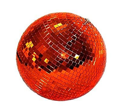 Lightweight Glass Party Disco Mirror Ball For Bar Stage DJ Party Light, 6 inch, red