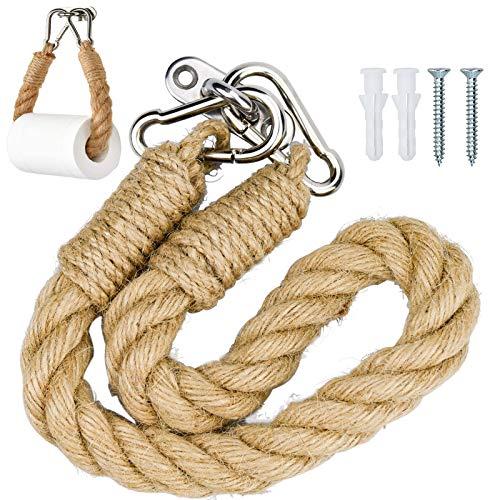 Soporte de papel higiénico, soporte para rollo de papel higiénico, cuerda industrial para montaje en pared, decoración náutica