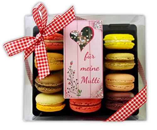 Macarons Bonilla für Muttertag - Schachtel mit 12 Macarons, ohne Zusatz- & Konservierungsstoffe, glutenfrei