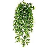 XHXSTORE 3pcs Planta Colgante Artificial Decoracion 80cm Enredadera Plastico Plantas Artificiales Decorativas para Exterior Interior Balcon Terraza Cocina Baño Maceta Cesta Jardin Boda Fiesta Verde