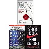 Bad Blood, Billion Dollar Whale, Shoe Dog 3 Books Collection Set