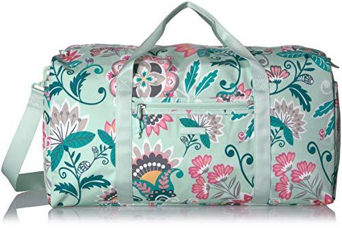 Vera Bradley Lighten Up Large Travel Duffel, Mint Flowers