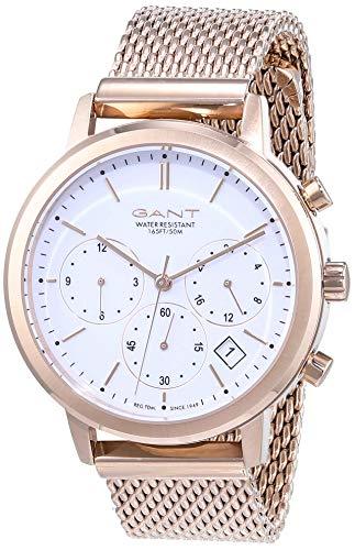GANT Damen Analog Quarz Uhr mit Edelstahl Armband GT032002
