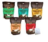 Merrick Grain Free Power Bites Variety Pack - 5 Total Flavors: Chicken, Texas Beef, Turducken, Salmon, and Rabbit (5 Bags Total, 6oz Each)