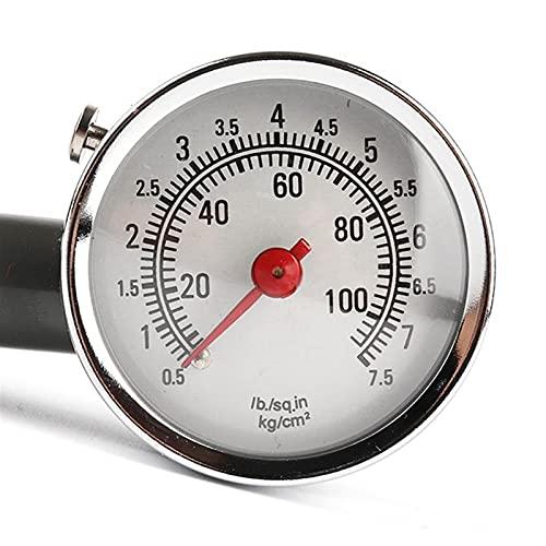 Lixiaonmkop Calibrador de neumáticos Alto Precisión Coche Medidor de presión Manómetro Dial Auto Aire Medidor Meter Tester Herramienta de reparación de diagnóstico de automóvil