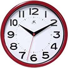 Infinity Instruments Metro Red 9-Inch Resin Wall Clock