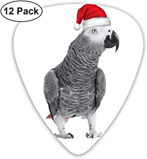 African Grey Parrot Guitar Picks For Electric Guitar - 12 Pack CUILL Plectrums Includes Thin, Medium & Heavy Gauges