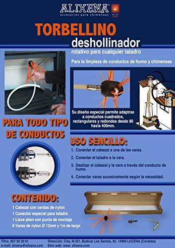 Alixena-Cepillo deshollinador rotatorio torbellino para taladro