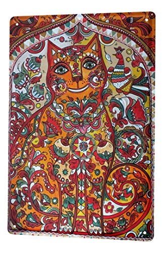 LEotiE SINCE 2004 Blechschild Metallschilder Wandschild Blech Poster Katze Rasse Ornament