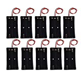 Baitaihem Wire Lead Battery Storage Box Holder Case for 2 X 18650 Button Top Single Battery, Pack of 10