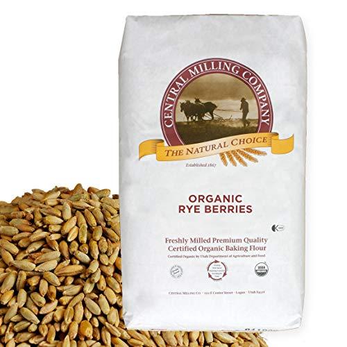 100% Organic Rye Berries - 25 lbs