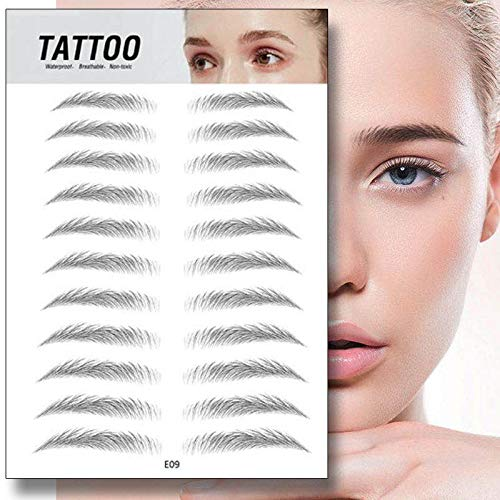Magic 4D Hair-like Authentic Eyebrows Grooming Shaping Makeup Brow Shaper Brow Stickers Tattoo False Eyebrows Grooming Shaping Brow Shaper Makeup Eyebrow - E09