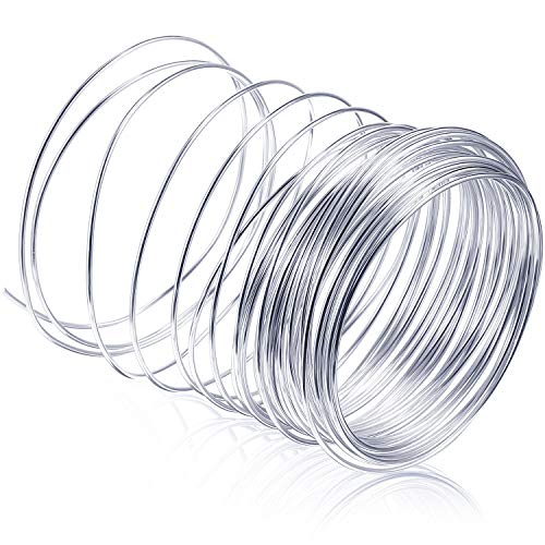 65.6 Feet Silver Aluminum Craft Wire, Soft and Flexible Metal Armature Wire for DIY Manual Arts and Crafts (2 mm)