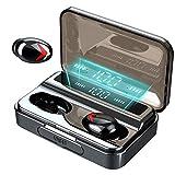 Donerton Ecouteurs Bluetooth, IPX7 Etanche Ecouteur sans Fil, Intra Auriculaire Oreillette Bluetooth 5.0, 3000mAh Etui de Charge, CVC 8.0 Anti-Bruit Casque Sport avec Léger Stéréo Mic, Affichage LED