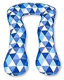 Amilian Kissenbezug für Schwangerschaftskissen Lagerungskissen Relaxkissen Dreiecken Blau TYP A