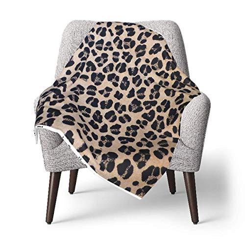 Hdadwy Manta para niños, manta de bebé con estampado de leopardo, manta suave de felpa para niños y niñas, manta de recepción de 30 x 40 pulgadas