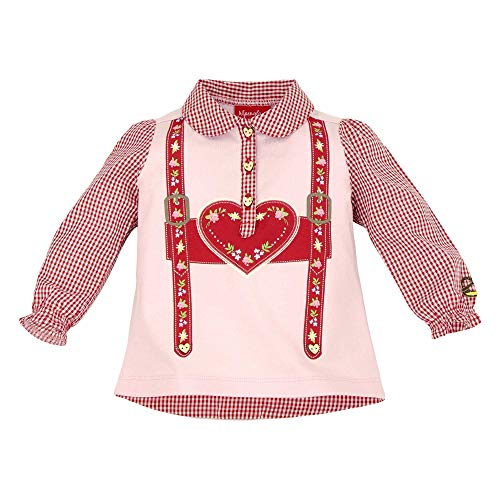 BONDI BONDI Baby Mädchen Trachtenpoloshirt ´Hosenträger´Artrnr. 86004 Größe 68