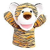 JSJJARF Fingerpuppen Cartoon Zoo Tiger Handpuppe Baby Plüsch Handschuh Puppen Unterricht Zeigen Kinder Geschenk