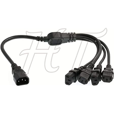 Ht Kabel Iec320 C14 4 X C13 Usv Pdu Y Splitter Computer Kamera