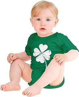 St. Patrick's Distressed Clover - Lucky Shamrock Baby Bodysuit