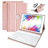 Coque Clavier AZERTY Français iPad 9.7 Pouces ,COO Bluetooth Clavier Etui Housse Auto...