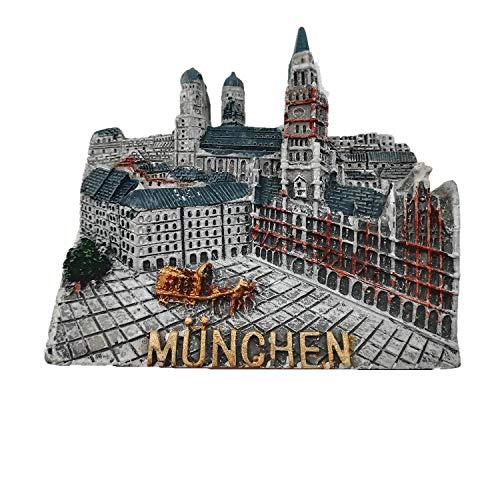 MUYU Magnet München Deutschland 3D Kühlschrankmagnet Home & Küche Deko Magnetaufkleber München Deutschland Kühlschrankmagnet Tourist Souvenir Geschenk