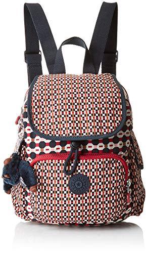 Kipling Damen City Pack Mini Rucksack, Mehrfarbig (Shapemix Bl), 27x29x14 Centimeters