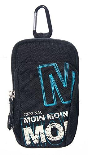 LK-Trend & Style heuptas MOIN-MOIN heuptas zwart met karabijnhaak 2 x ritssluiting BG1126A
