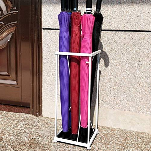 ZXL paraplu/paraplu voor thuis/restaurant/restaurant/smeedijzer + plaat van kunststof roest zwart wit plank creatieve paraplu (kleur: A)