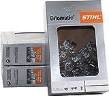 Stihl 36100000050 Lot de 3chaînes de tronçonneuse PiccoMicro 3/8P-1,1-50 pour Stihl MS170, 35cm