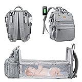 LOVEVOOK Wickeltasche Wickelrucksack mit Babybett Babytaschen mit bett Multifunktional Wickeltaschen...