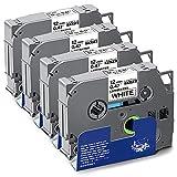 UniPlus Cinta de Etiquetas Compatible para Brother Tze-231 Tze231 12mm Casetes de Cinta Laminada...