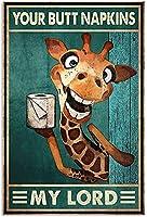 レトロおかしい金属錫サイン8 x 12インチ(20 * 30 cm)トイレバスルームwcブリキ看板警告通知パブクラブカフェホームレストラン壁の装飾アートサインポスター(fs-1-97)