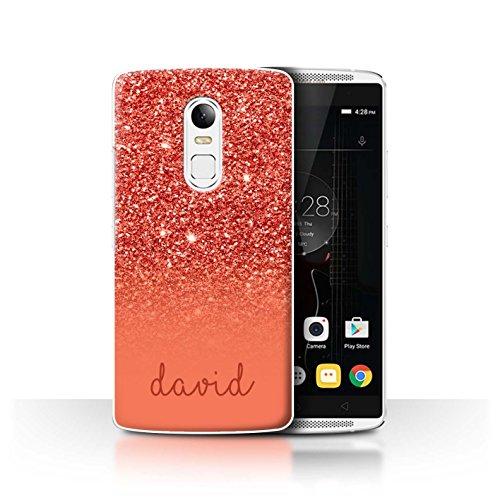 Personalisiert Hülle Für Lenovo Vibe X3 Persönlich Glitter Effekt Rot Design Transparent Ultra Dünn Klar Hart Schutz Handyhülle Hülle