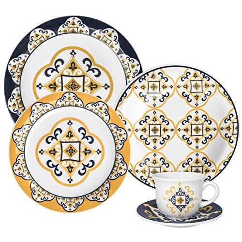 Aparelho de Jantar e Chá 30 Peças Oxford Daily Floral São Luis Multicor