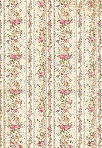 Stamperia Rijstpapier A4 - Kleine rozen behang