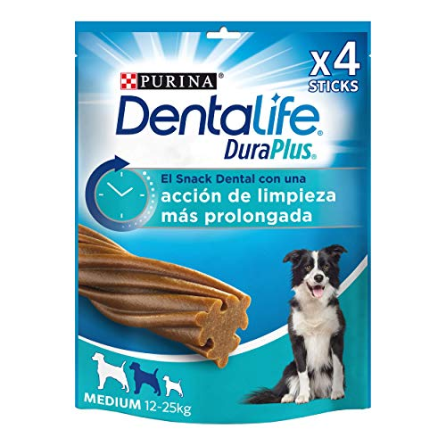 Purina DentaLife DuraPlus Medium - Snack Dental para Perro Mediano, 5 x 197 g ✅