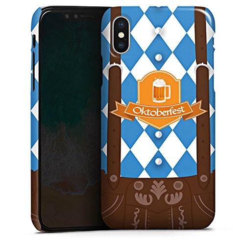 DeinDesign Premium Case kompatibel mit Apple iPhone X Hülle Handyhülle Oktoberfest Lederhose München