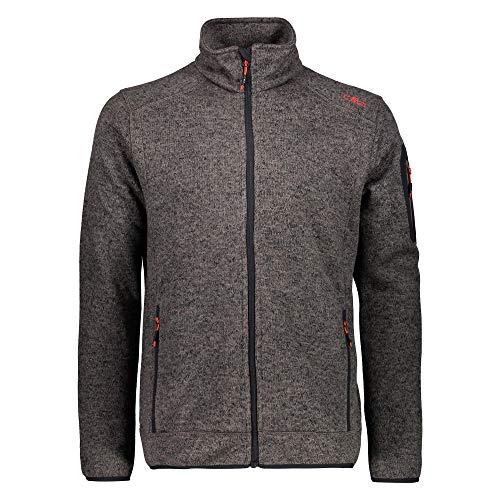 CMP – F.LLI Campagnolo Herren Knit Tech Polyester-Strickfleecejacke Fleece Jacket, Torba, 60
