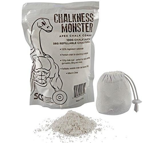 Gym Chalk Bag - Gymnastics, Rock Climbing, Power Lifting, Crossfit No Slip, No Moisture Chalk