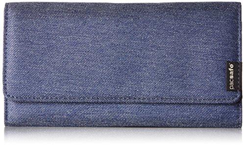 Pacsafe RFIDsafe LX200Diebstahlschutz RFID-blockierender Kupplung Geldbörse, Denim (blau) - PAC10750_2_Denim/601