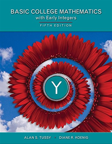 Student Workbook for Tussy/Koenig's Basic Mathematics for College Students with Early Integers