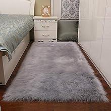 Alfombras Dormitorio, Lavables Alfombras Salon Modernas por Infantiles alfombras de habitacion Juvenil ,pequeñas Alfombras de Pasillo (Gris, 60x90cm)