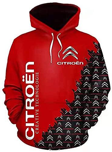 De gama alta personalizar Ci-tro-en 3D logo impresión suéter camisas deportes con capucha otoño invierno manga larga sudadera con capucha para hombres ropa